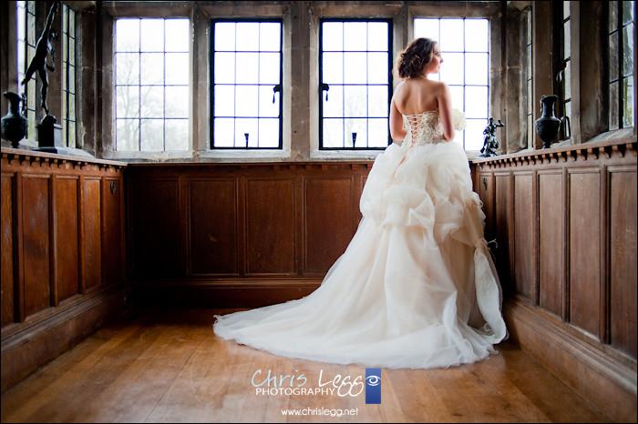 Bride in stunning large window