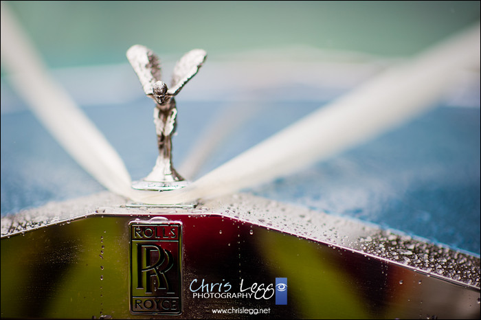 Close up of classic Rolls Royce flying lady
