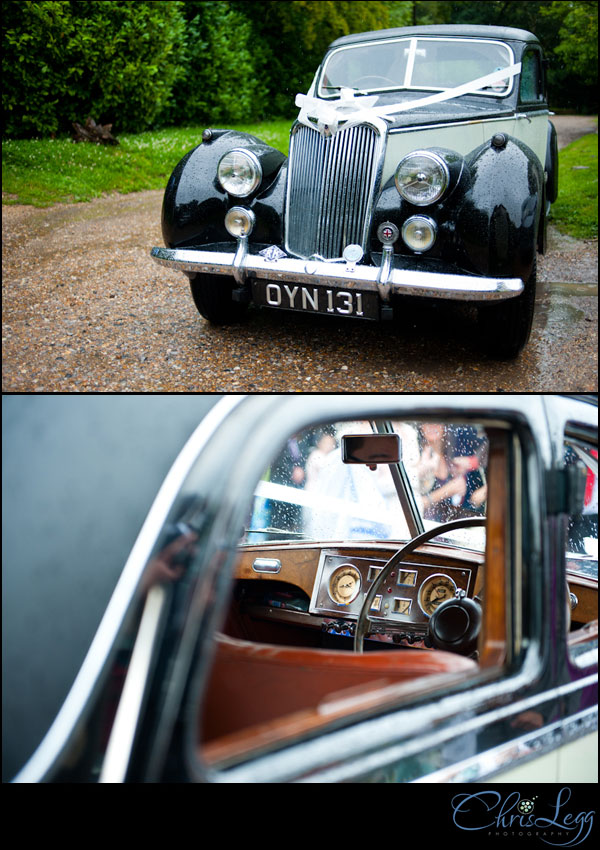 A lovely old Riley wedding car