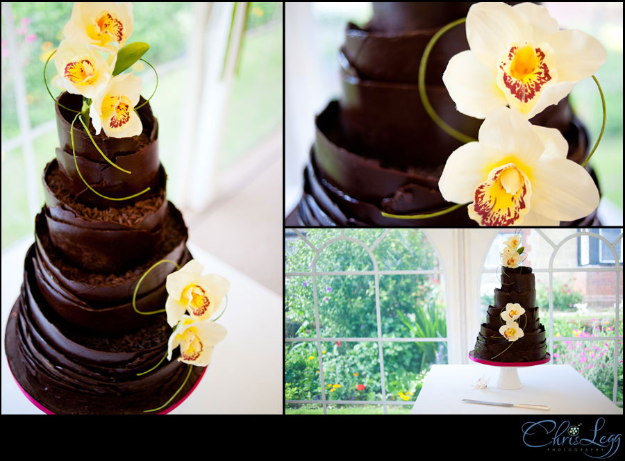 A collage of cake shots from a wedding in Surrey