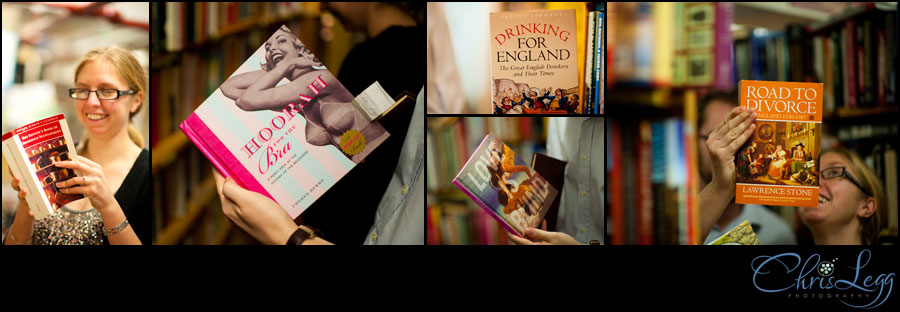 Books found during an engagement shoot in a bookshop in London