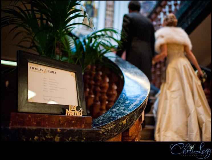 Bride and Groom walk to the Wedding Breakfast