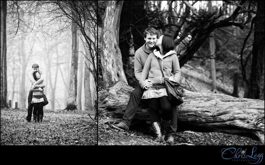 Engagement photography in Queen Elizabeth Country Park, Hampshire