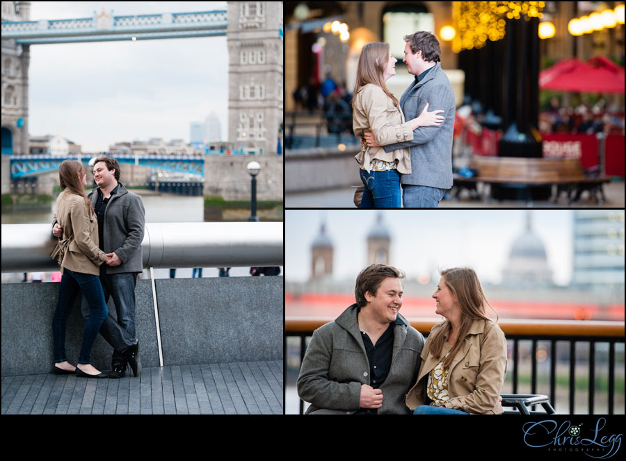 Engagement Shoot in front of Tower Bridge