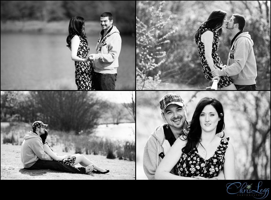 Black and White Engagement Session Image Collage