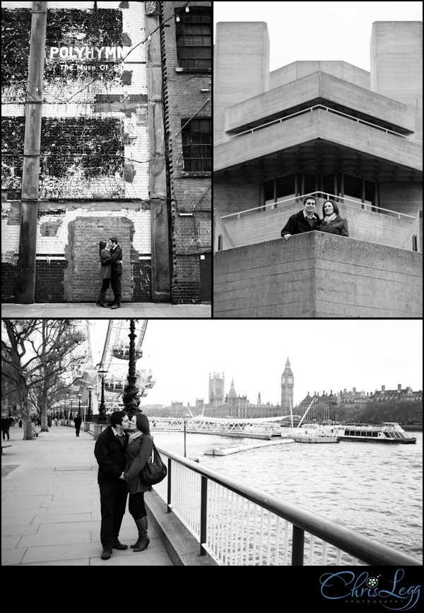 Pre-Wedding Shoot collage outside the houses of parliament in London