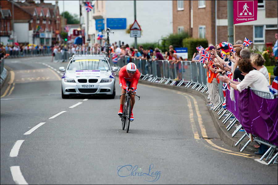 Photography of the London 2012 Olympic Time Trials where Bradley Wiggins got a Gold Medal