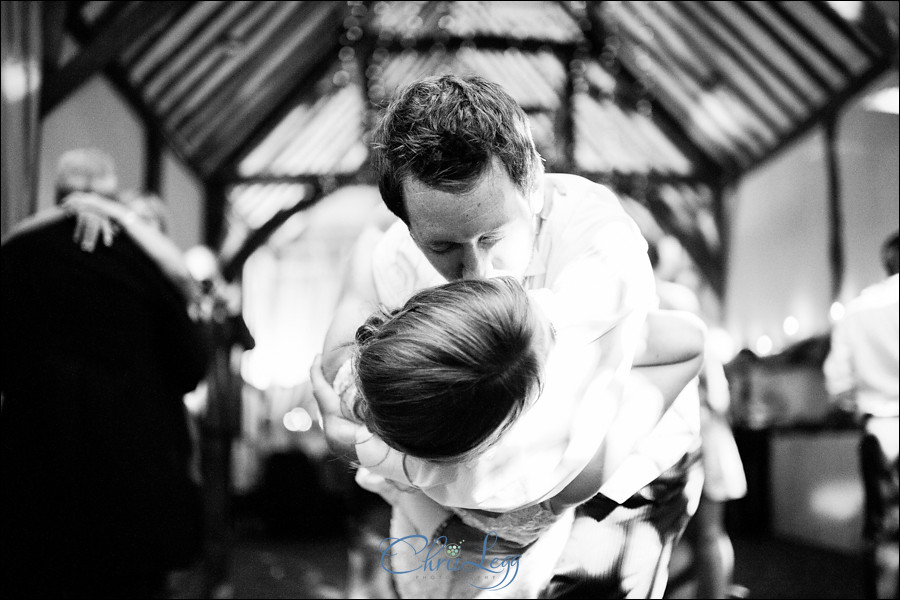 Bride and groom dancing at Bix Manor