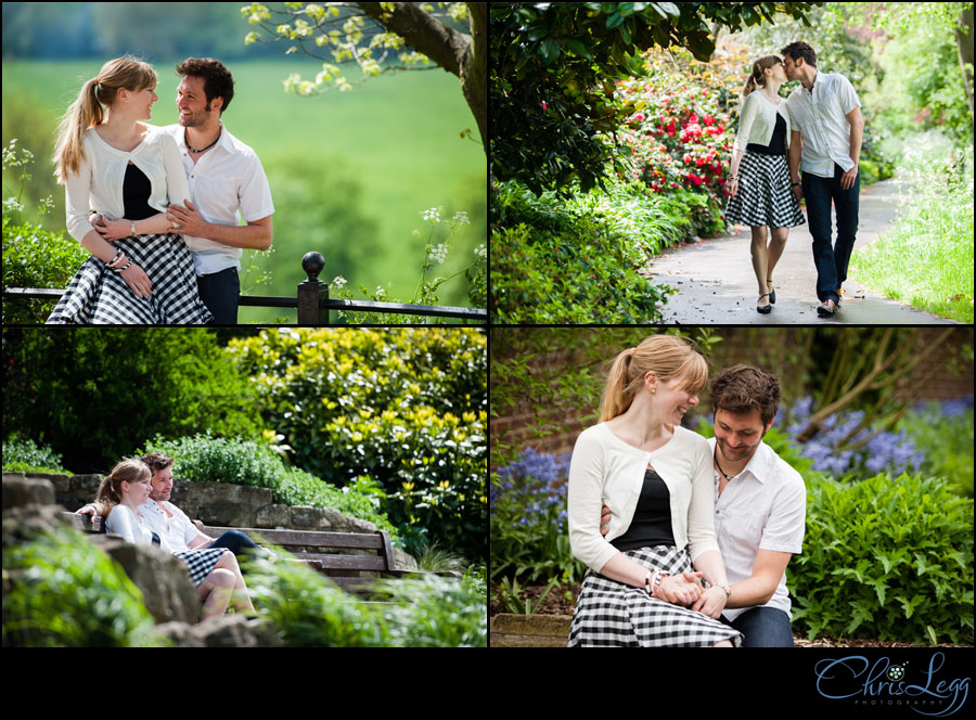 Engagement Photography in the Terrace Gardens in Richmond