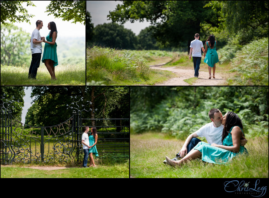 Engagement Shoot at Pembroke Lodge in Richmond, Surrey