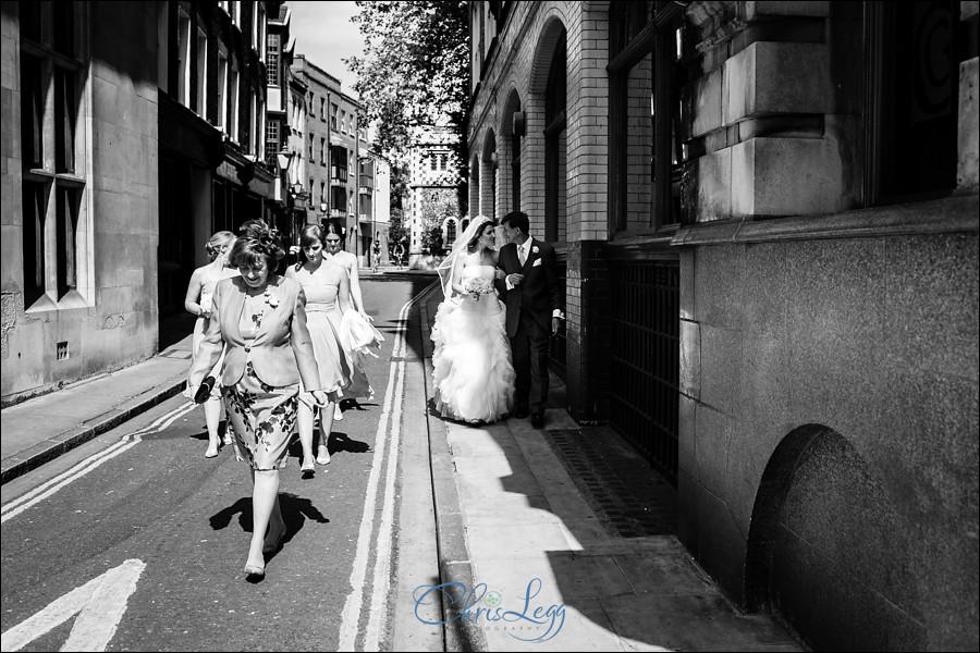 Haberdashers Hall Wedding Photography 019