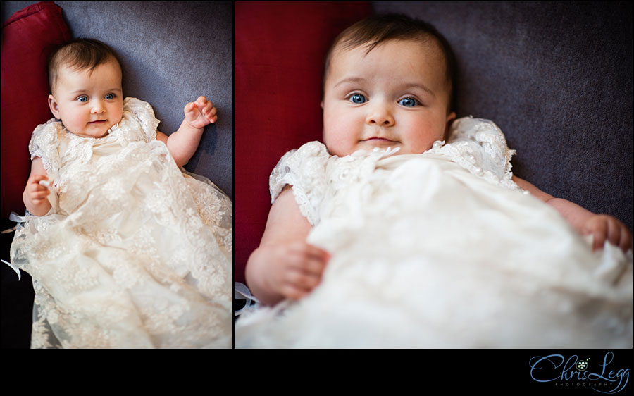 Images of baby at her Christening