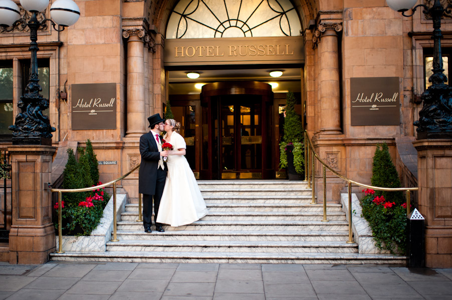 Hotel russell london wedding photographer for Hotels ussel